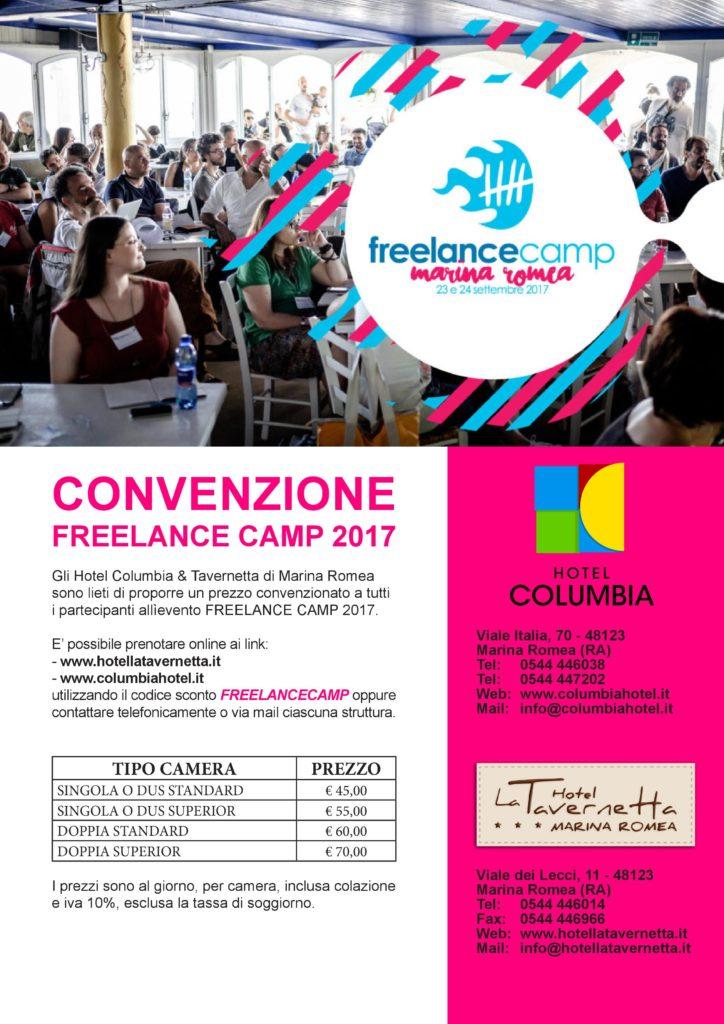 convenzione dormire marina romea freelancecamp
